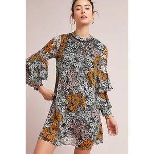 NWT Anthropologie flutter sleeve tunic dress